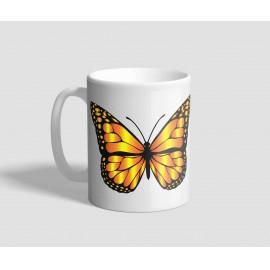 Színes, és sárga színű pillangós bögre