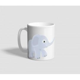 Bébi elefántokat ábrázoló elefántos bögre