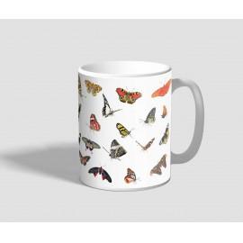 Temérdek fajtát ábrázoló pillangós bögre