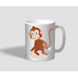 Vidám hangulatú majmos bögre