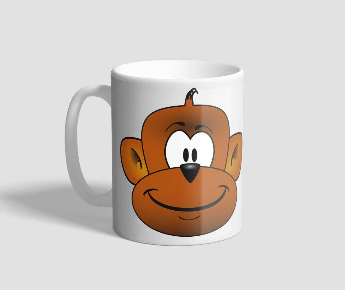 Mosolygós majmos bögre