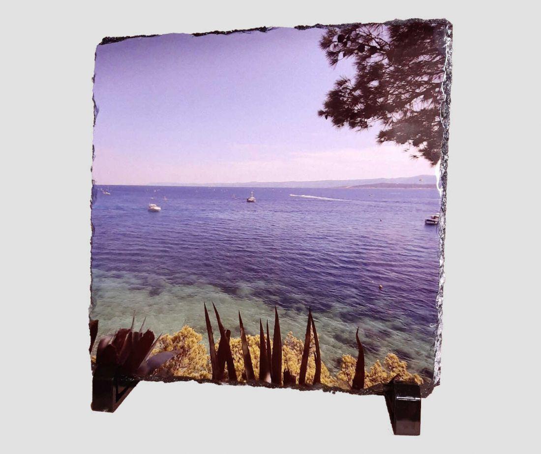 Saját fotóval kérhető, 20x20 cm-es fényképes kőlap